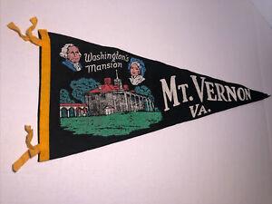 Vintage-Pennant-Washington-s-Mansion-Mount-Vernon-Virginia-Souvenir-Felt-Wool