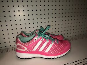 Details about Adidas Duramo 6 Womens Athletic Running Shoes Size 7 Pink Blue White Polka Dots