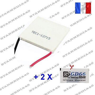 15,4V 136,8W Module Peltier TEC1-12715 Glaci/ère Machine Effet thermo/électrique