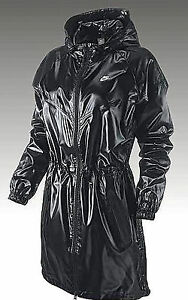 Parka Xs Wet Black Shiny Look Nike Nylon da Giacca running Gloss Windrunner Long BnZ6xX7q
