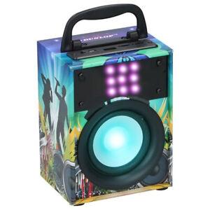 Cassa-Altoparlante-Speaker-Bluetooth-con-Effetti-Luce-LED-Portatile-USB-Aux-MP3