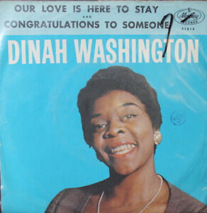 Dinah-Washington-Our-Love-Is-Here-To-Stay-PS-45-rpm-Record