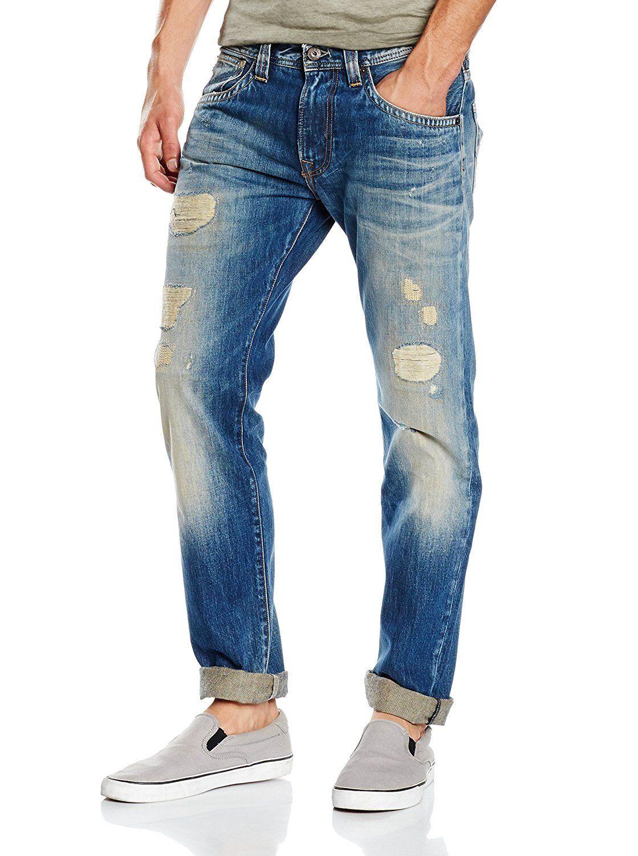 PEPE Jeans Russel, regular fit, w32 l34, slim leg, leg, leg, denim strappati, low waist 1a0be8