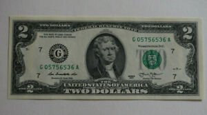 1-Uncirculated-2-Two-Dollar-Bill-USA-G05756536A-Good-Luck-Token