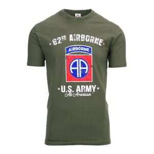 82nd Airborne All American Paratrooper D-Day T-Shirt US Army USAAF WWII