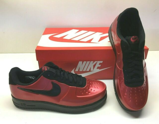 factory price e27fb 2a5a8 Nike AF1 Air Force 1 Foamposite Pro Cup Gym Red Black Basketball Shoes Mens  11