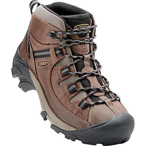 Keen Targhee II Mid Waterproof Hiking Boots (Pair) Men's  Shitake/Brindle