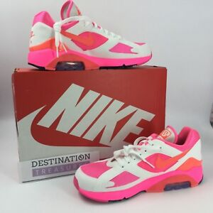 Details about Nike Comme des Garcons Air Max 180 CDG Sneakers M 9 W 10.5 Pink White AO4641 600