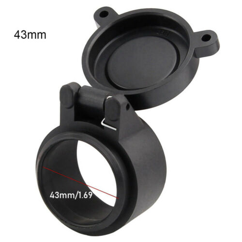 Rifle Scope Lens Cover Objective Lense Lid Flip Up Cap Quick Spring Protection