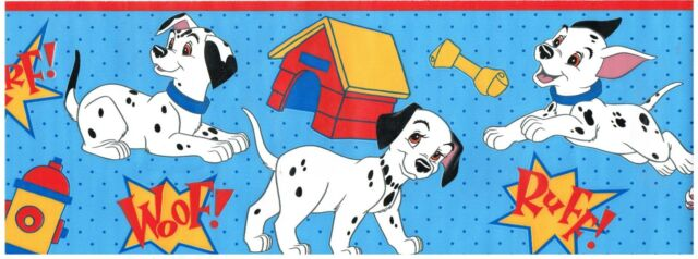 Disney Dalmations Vintage Wall Paper Border 5 Yards For Sale Online