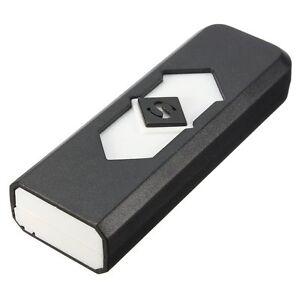Briquet-USB-rechargeable-gadget-fumer-allumer-Couleur-au-choix-WT