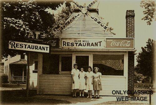 1920/'s ROADSIDE AMERICANA 4-4X6 PHOTOS RESTAURANT CAFE COCA-COLA SIGN ROUTE 66