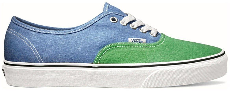 Basket Van's Authentic vert et bleu délavé taille : 40 (EU)