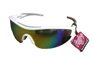 cb3a95e3b4 Image is loading Rawlings-1803-white-orange-blue-yellow-Sport-Sunglasses-