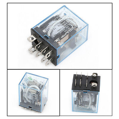 LY2NJ LY2N-J Coil Power Relay DPDT 8pin 2NO+2NC led lamp 10A//12V DC with Base