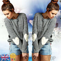 UK Women Ladies Knitted Cardigan Jumper Long Sleeve Sweater Blouse Pullover Tops