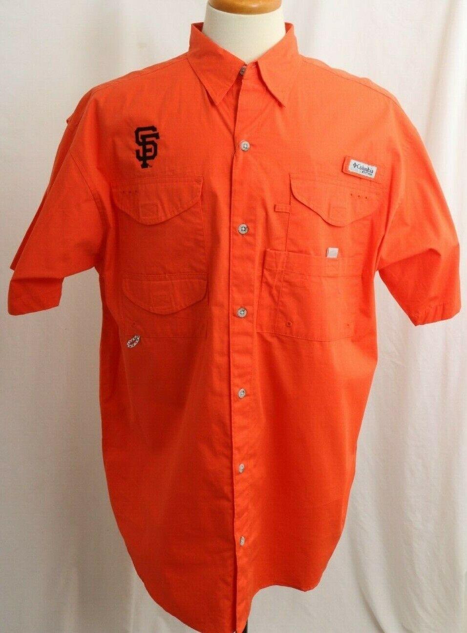 New San Francisco Giants MLB Embroidered Columbia PFG Bonehead Shirt Men's L