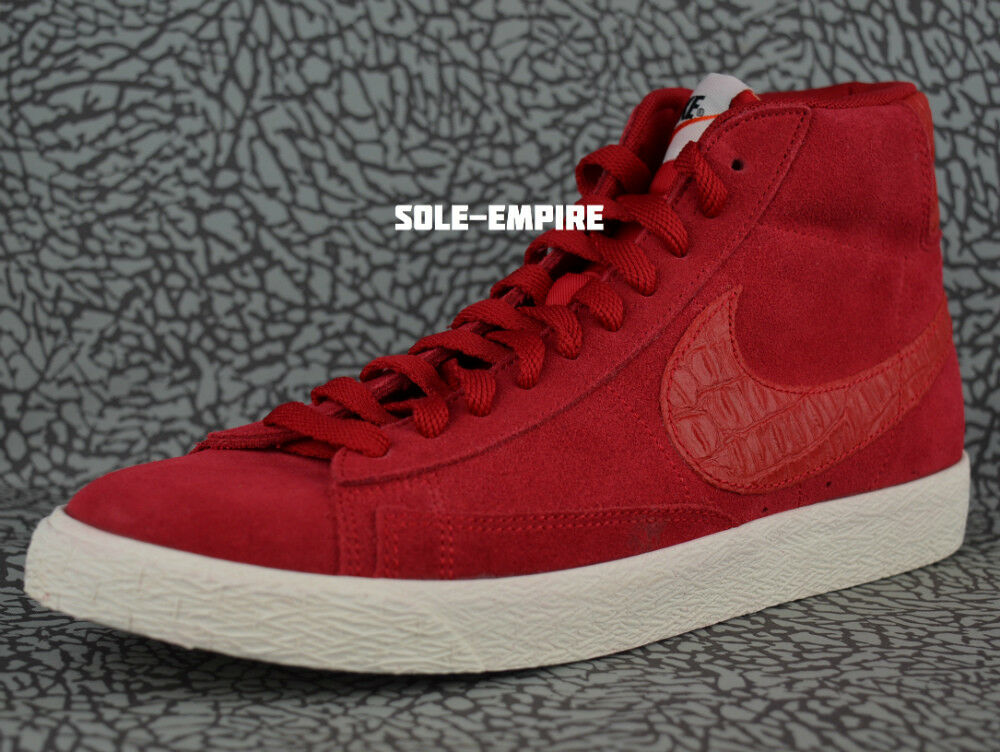 18e68014d7a Nike Blazer Mid Premium VNTG 638261-601 Gym Red Red Red Sail Retro Vintage  NEW