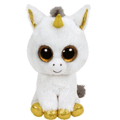 TY BEANIE BOOS LARGE Plush 16  41cm Soft Toy PEGASUS UNICORN White Boo