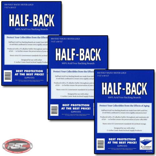 GERBER HALF-BACK SILVER /& GOLD 100/% Acid-Free Backing Boards 750HB 300 E