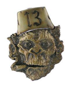 belt-buckle-Lucky-13-Smoking-Chimp-Lighter-Tattoo-Retro-Fez