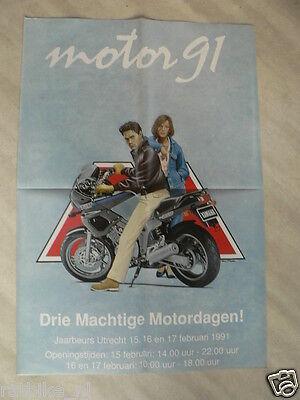 91-yamaha Tdm 850 Drie Machtige Motordagen 1991 Utrecht Jaarbeurs Ser Amigable En Uso
