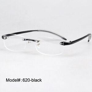 Plastic eyeglasses frame foldable rimless RX light glasses ...