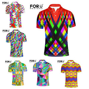 Fashion-Performance-Cool-Shirt-T-shirts-Short-Sleeve-Slim-Tee-Golf-for-Men-s-New