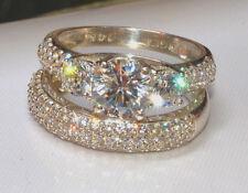 2.99ct Round Diamond Engagement Ring Wedding Band Solid 14k White Gold