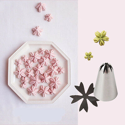 2 X Cherry Flower Ice Cream Piping Tip Nozzle Cake Decorating Pastry Tools CN