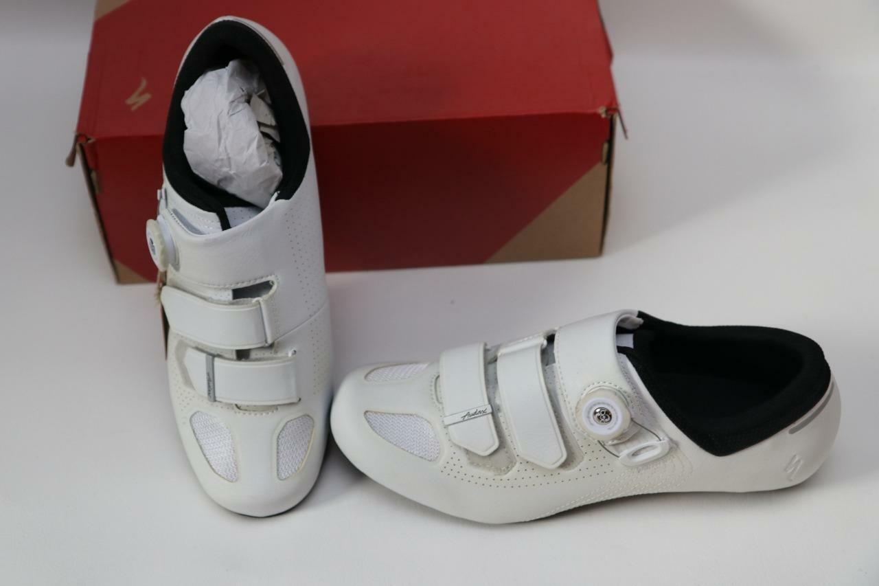 New Specialized Audax Road Bike shoes 42 9 White Men's Carbon Tri BOA Cycling