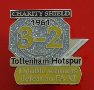 Danbury-Pin-Badge-Tottenham-Hotspur-Football-Club-FC-Charity-Shield-1961-Spurs