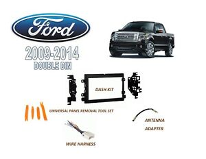 Details about 2009-2014 FORD F-150 XL BASE MODEL 2 DIN CAR STEREO INSTALL  DASH KIT, HARNESS