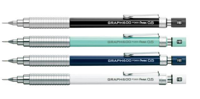 Pentel GRAPH 600 PG605 0.5mm Mechanical Drafting Pencil Red