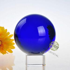 Hot 100mm Asian Natural Quartz Magic Purple Crystal Healing Ball Sphere+Stand