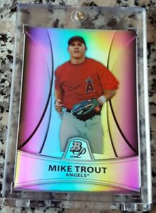 MIKE-TROUT-2010-Bowman-Platinum-REFRACTOR-SP-Rookie-Card-RC-23-999-Angels-HOT