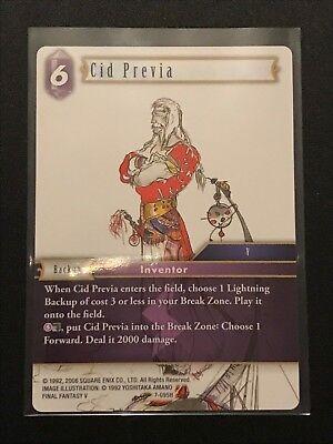 Final Fantasy Cards # 4I4 Cid Previa 7-095H