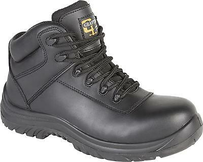 Grafters M5501A Safety Steel Toe Cap Mens Black Leather Work Boots UK4-16