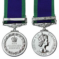 British Made Medal NORTHERN IRELAND GSM with CLASP - FULL SIZE General Service
