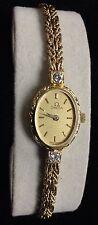 Estate Omega 14k Solid Gold & Diamond Ladies Swiss Watch