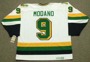 new style f2656 6b898 Details about MIKE MODANO Minnesota North Stars 1991 CCM Vintage Home NHL  Hockey Jersey