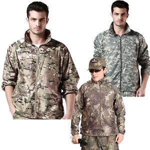 Men Outdoor Tactical Military Hiking Hunting Camping Coat Camo Waterproof Jacket