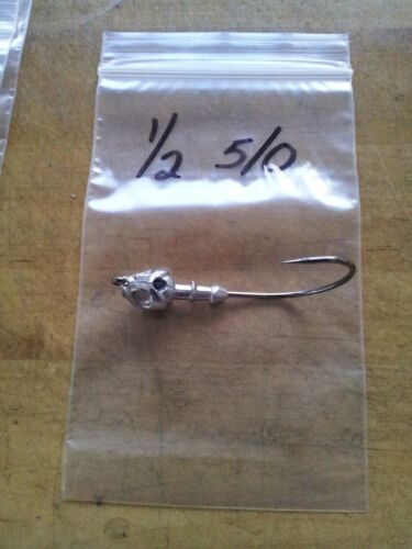 20 1//2oz Poison Tail Jigs Mustad UltraPoint Hooks 3//0 4//0 5//0 w//guard or w//out
