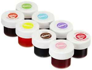 Details about Wilton Icing Colors Set Of 8 Cake Decorating Fondant Baking  Gels Food Frosting