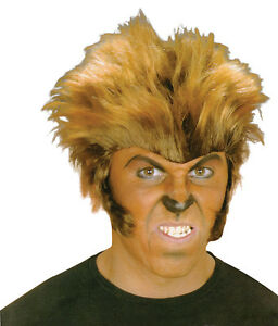 Halloween-Werewolf-Wolfman-Adult-Wig-Monster-Fancy-Dress-Horror-Accessory