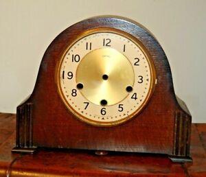 Antique-Oak-Smiths-Westminster-Mantel-Clock-Case-Face-Door-Chime-Bars-Project