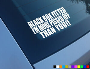 BLACK-BOX-FITTED-FUNNY-CAR-STICKER-DECAL-YOUNG-DRIVER-BUMPER-WINDOW-VINYL
