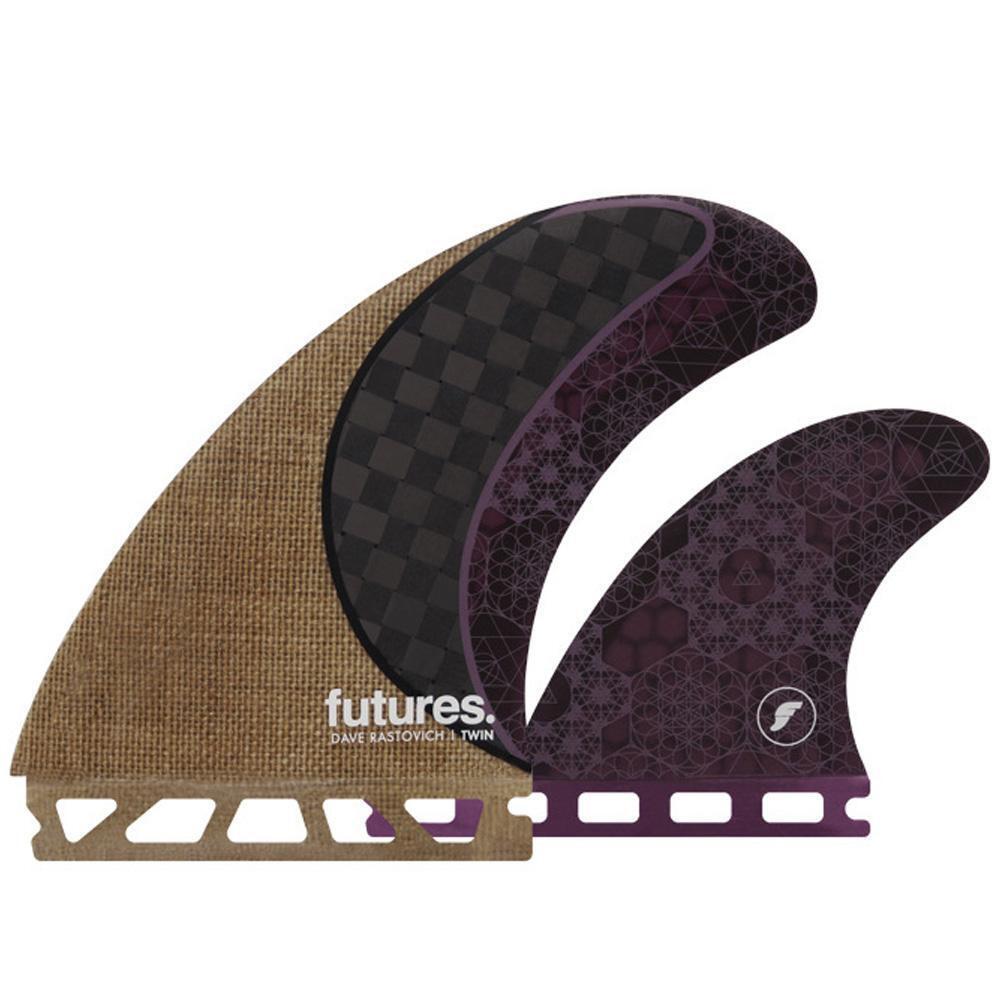 Futures Fins Rasta Twin Fin +1 Set Tabla De Surf Aletas
