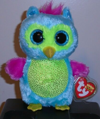 Justice Exclusive NEW MWMT Ty Beanie Boos ~ OPAL the Owl 6 Inch