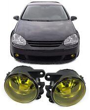 YELLOW FOG LIGHTS FOR VW GOLF MK 5 MK5 1K1 & JETTA 3 1K2 NICE GIFT